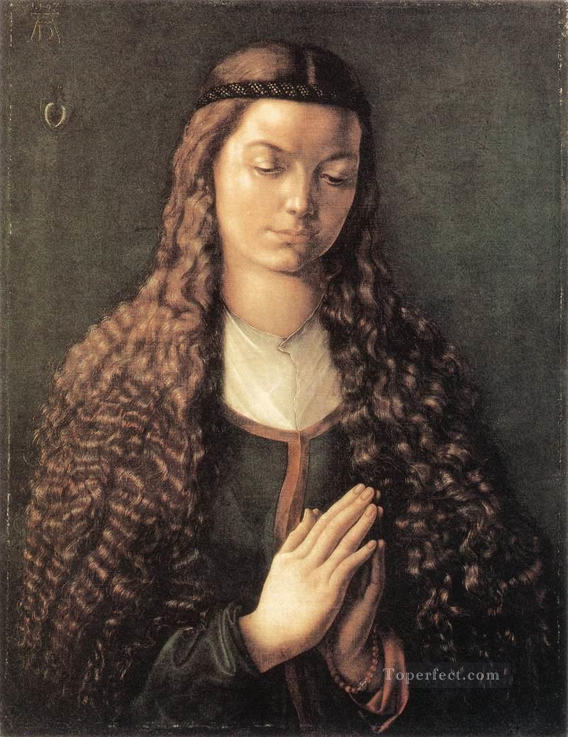 Portrait of a Young Furleger with Loose Hair Nothern Renaissance Albrecht Durer Oil Paintings